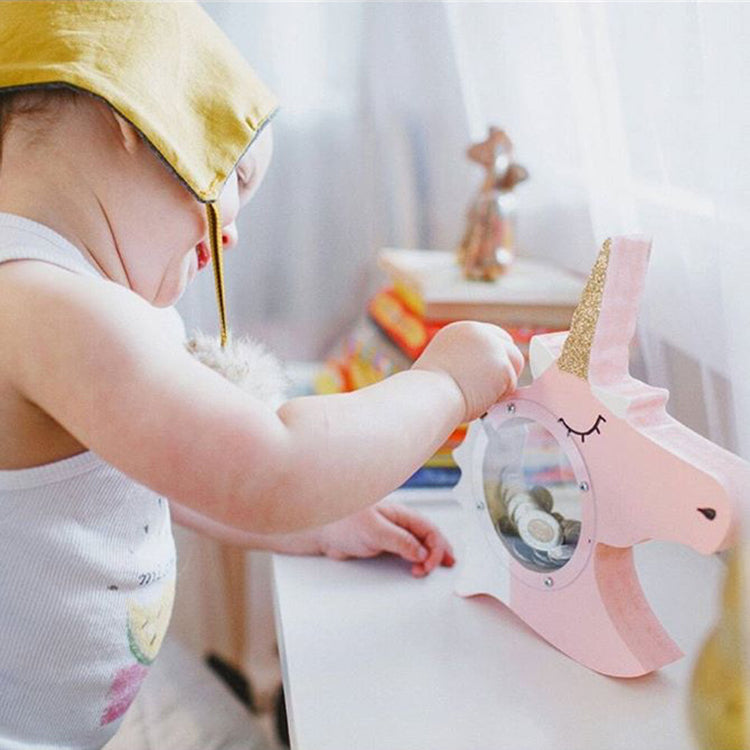 Unicorn Money Box Pink - iKids