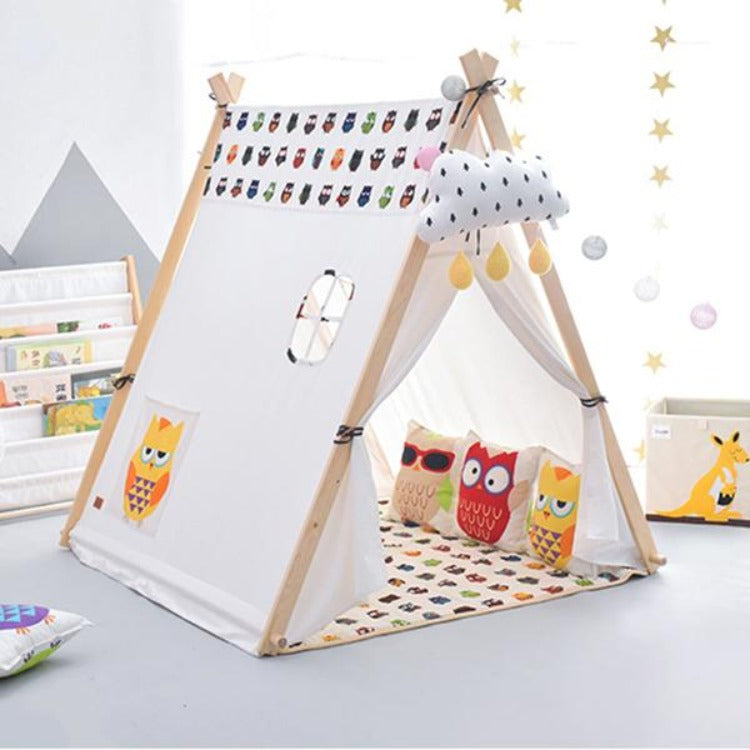 Square Teepee Tent Playhouse Owl - iKids