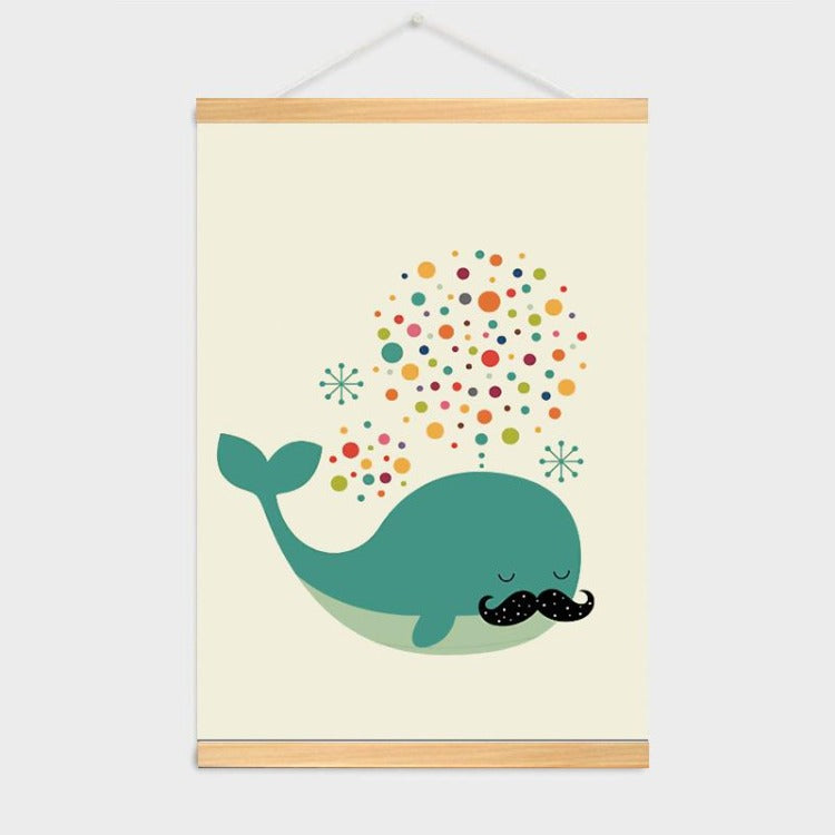 Poster Hanger Frame - Rainbow Whale - iKids