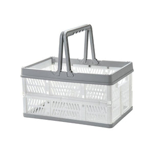 Foldable Storage Basket Grey - iKids