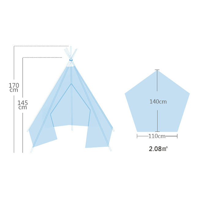 Deluxe Teepee Tent Blue Stars - iKids