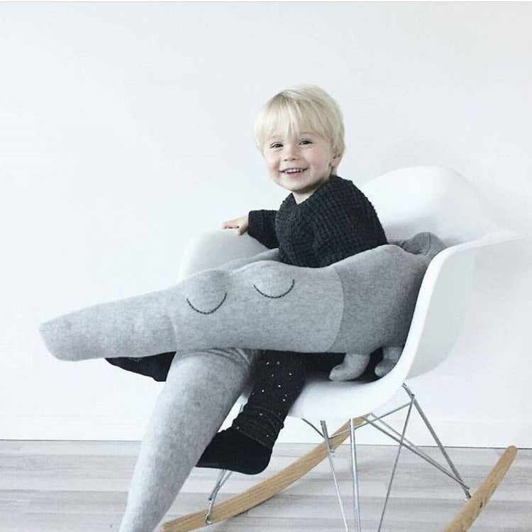Crocodile Cot Bumper Cushion Grey - iKids