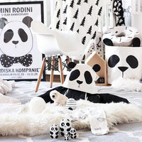 Canvas Storage Basket Panda