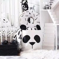 Canvas Storage Basket Panda - iKids