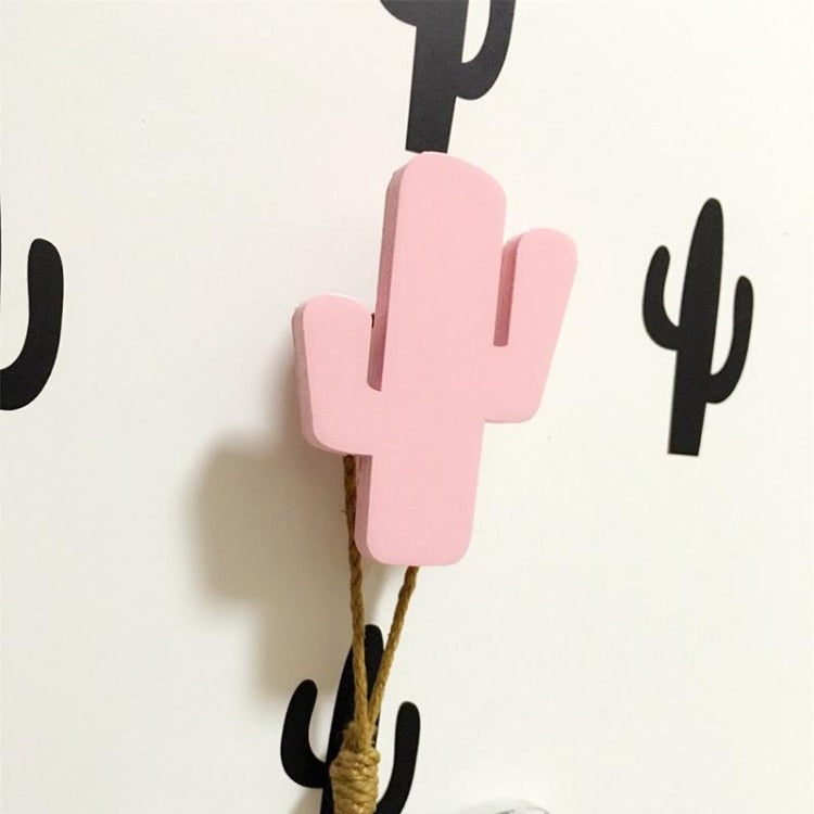 Cactus Wall Hook Pink - iKids