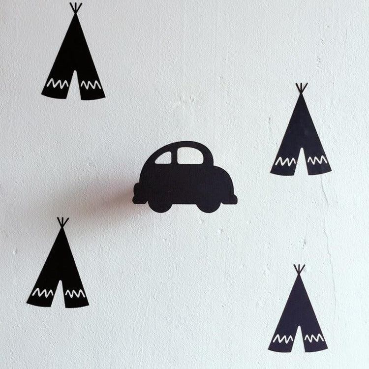 Car Wall Hook Black - iKids