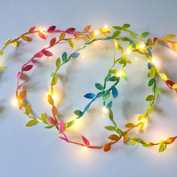 Colour Leaf Garland String Lights - iKids