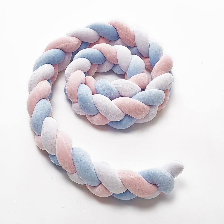 Knot Bumper Cushion White+Pink+Blue - iKids