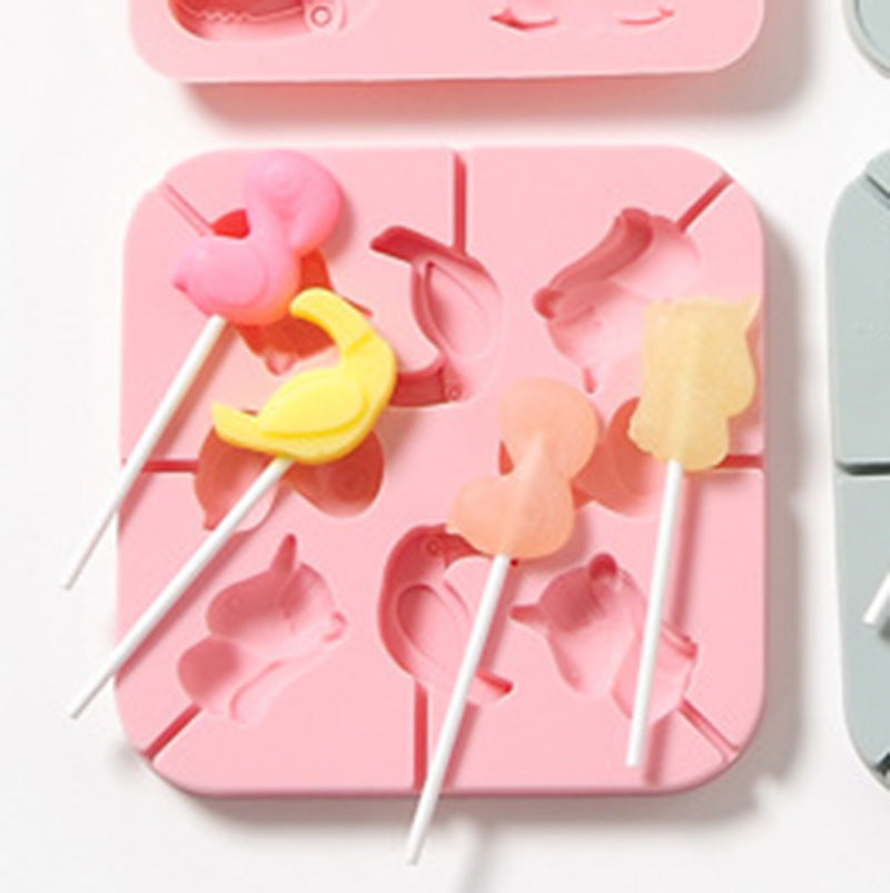 Baby Food Silicone Mould 8 Flamingo