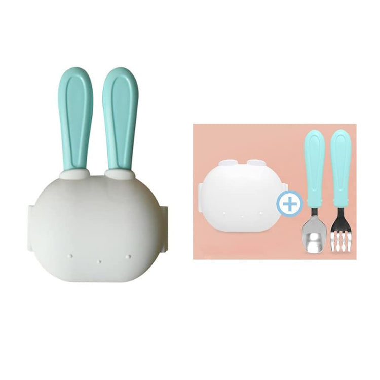 Rabbit Cutlery Set Mint - iKids