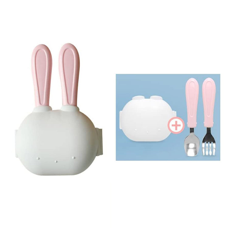 Rabbit Cutlery Set Pink - iKids