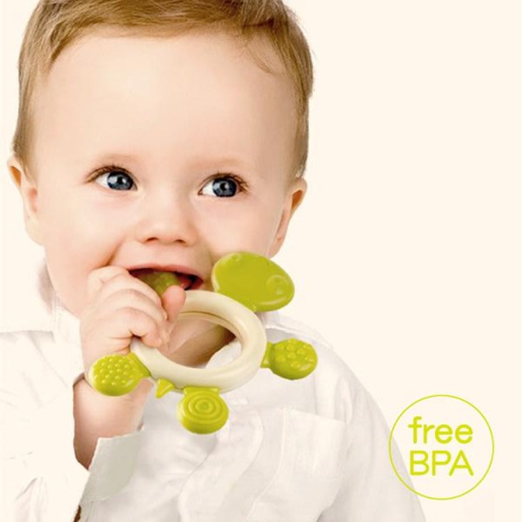 Silicone Baby Chewable Teether - Green Tortoise - iKids