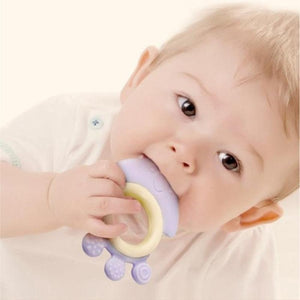 Silicone Baby Chewable Teether - Purple Octopus - iKids
