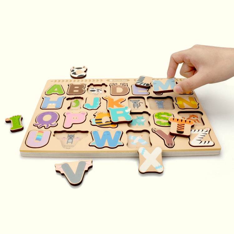 English Alphanumeric See-Inside Puzzle - iKids