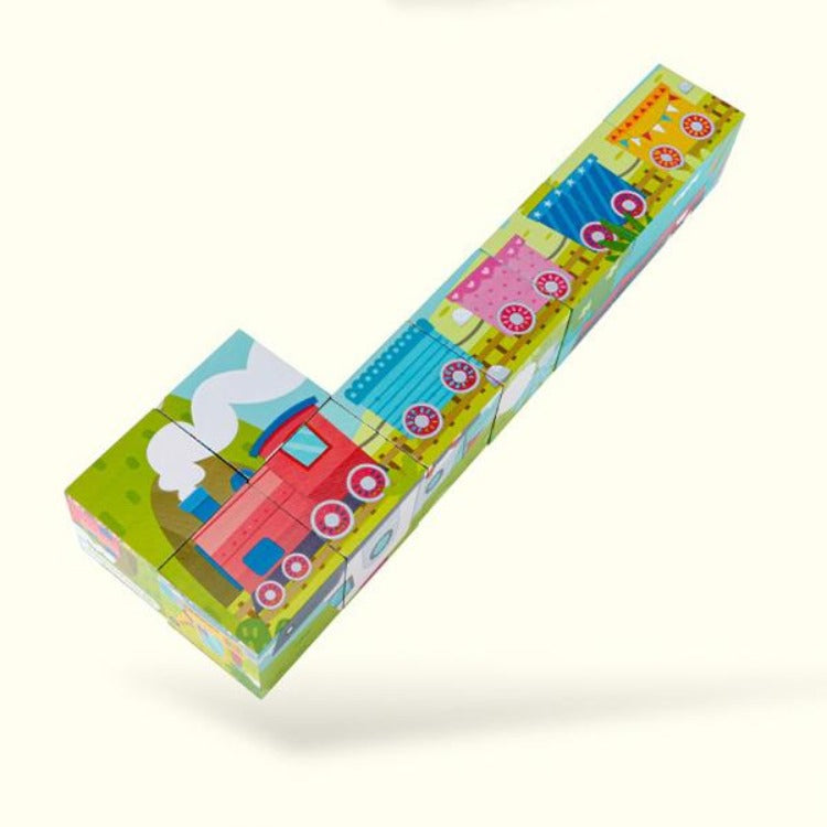 6 Sides Traffic Puzzle Block - iKids