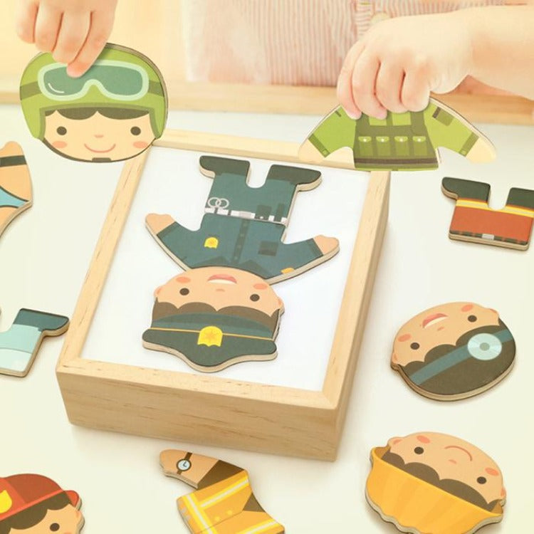 Kids Magnetic Dress Up Puzzle - iKids