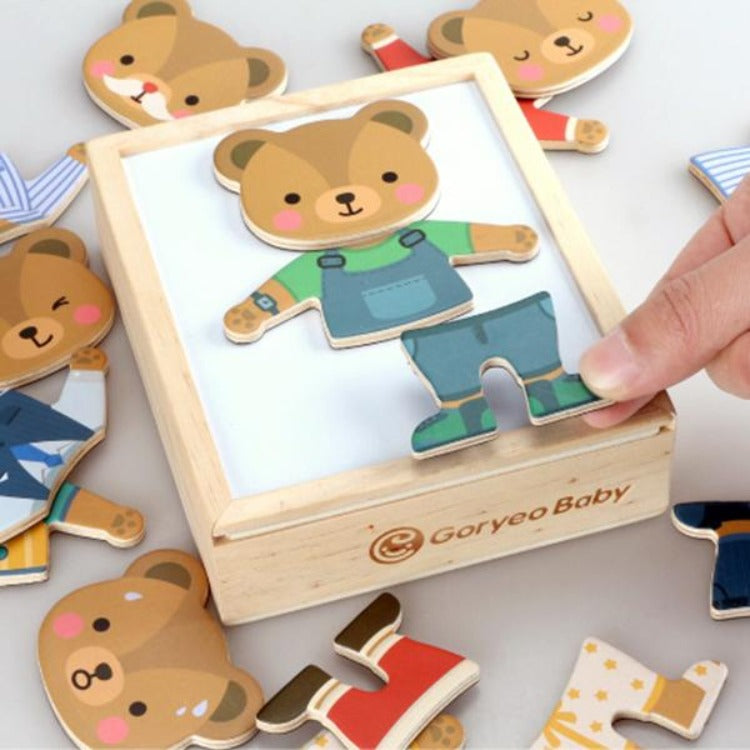 Baby Bears Magnetic Dress Up Puzzle - iKids