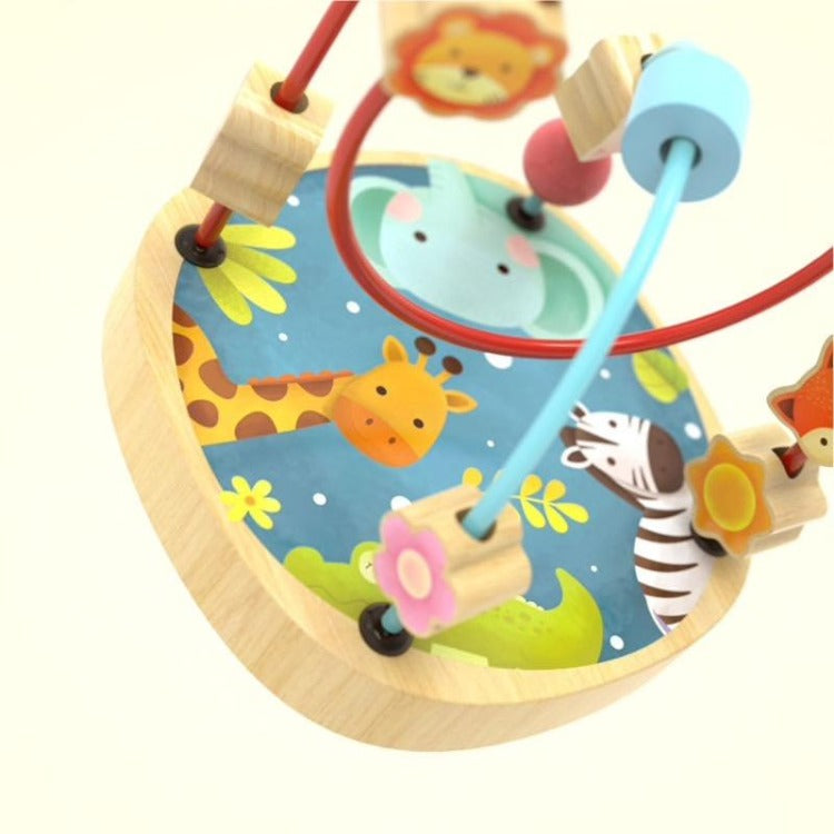 Wooden Beads Maze Animal Forest - iKids