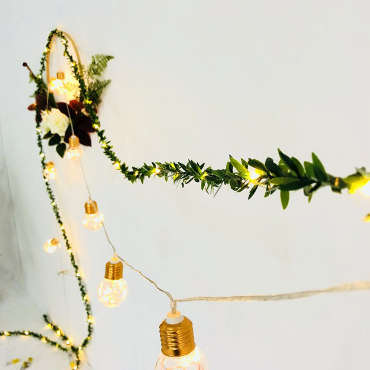 Green Leaf Garland String Lights - iKids