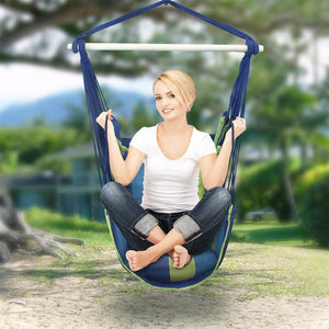Hanging Chair Hammock Blue - iKids