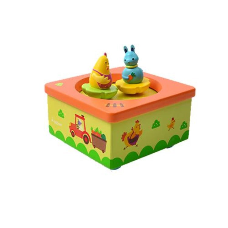 Wooden Musical Box Happy Farm - iKids