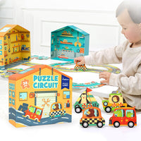 Mideer Traffic Road Puzzle Circuit - iKids