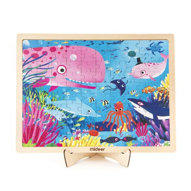 Puzzle in Wooden Frame Secret Ocean - iKids