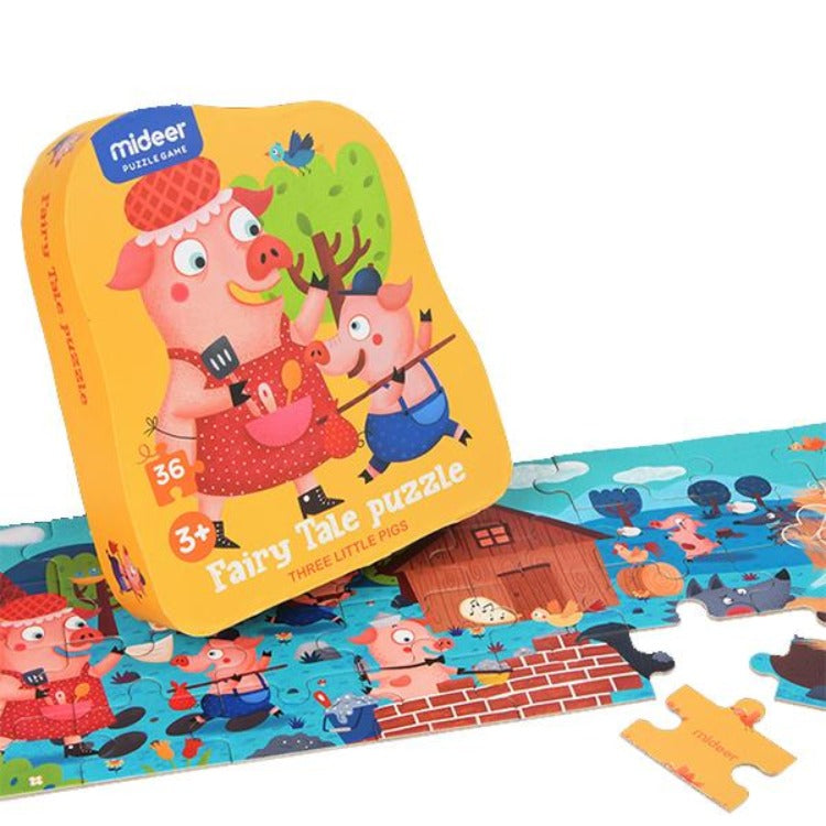 Fairy Tale Puzzle -  Three Little Pigs - iKids