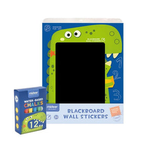 Sticker Chalkboard with Chalks Dinosaur - iKids