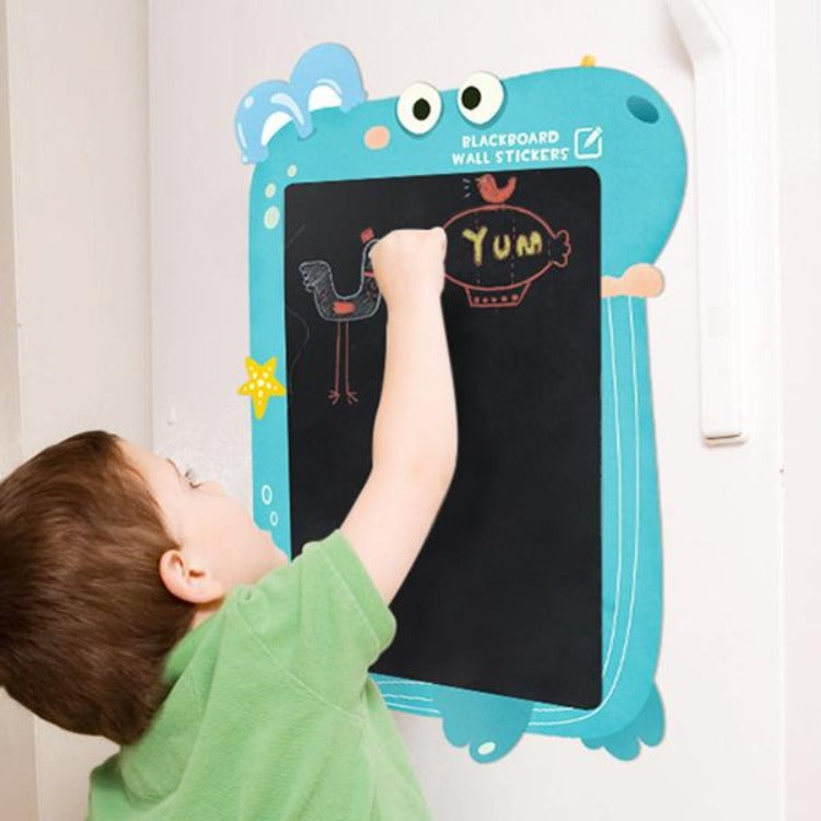 Sticker Chalkboard with Chalks Whale - iKids