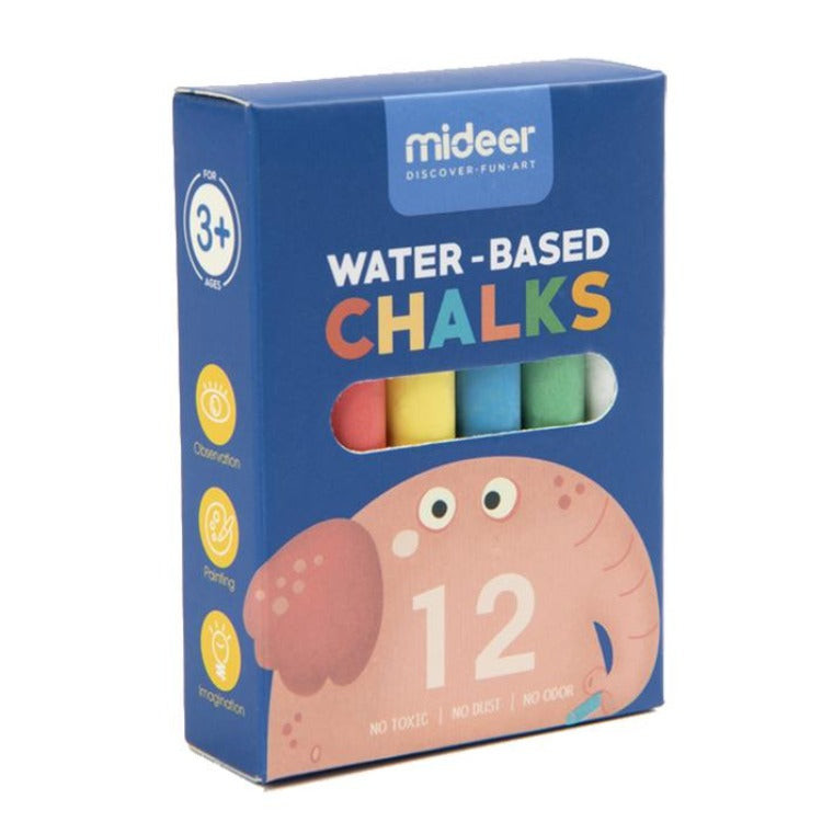 Multifunctional Palm Oil Chalk Elephant 12's - iKids