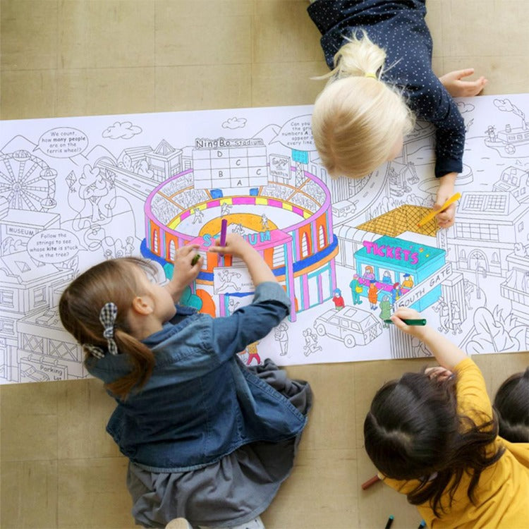 Mideer Giant Colouring Roll City 10 Meter - iKids