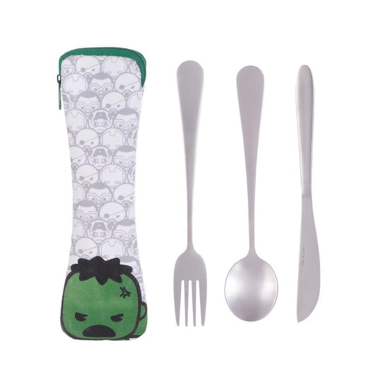 Cutlery Set 3-Pcs Hulk - iKids