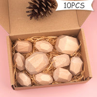 Wooden Building Blocks Natural - iKids