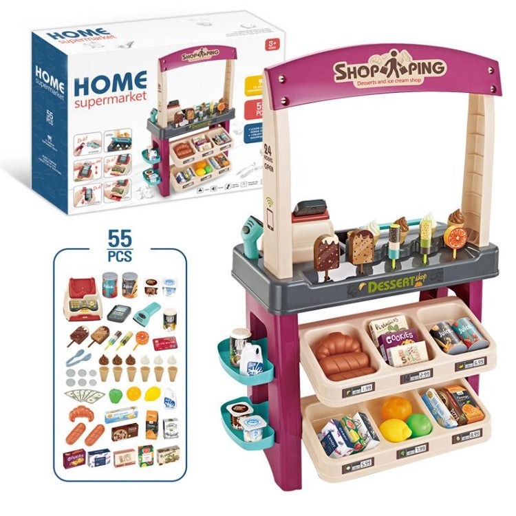 Home Supermarket Pretend Toy Red - iKids