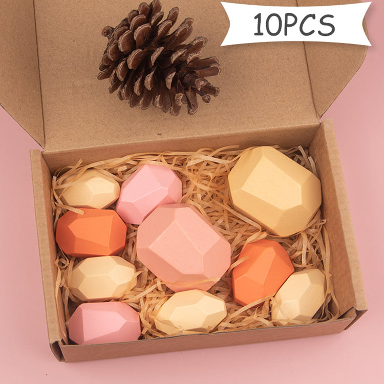 Wooden Building Blocks Pink - iKids