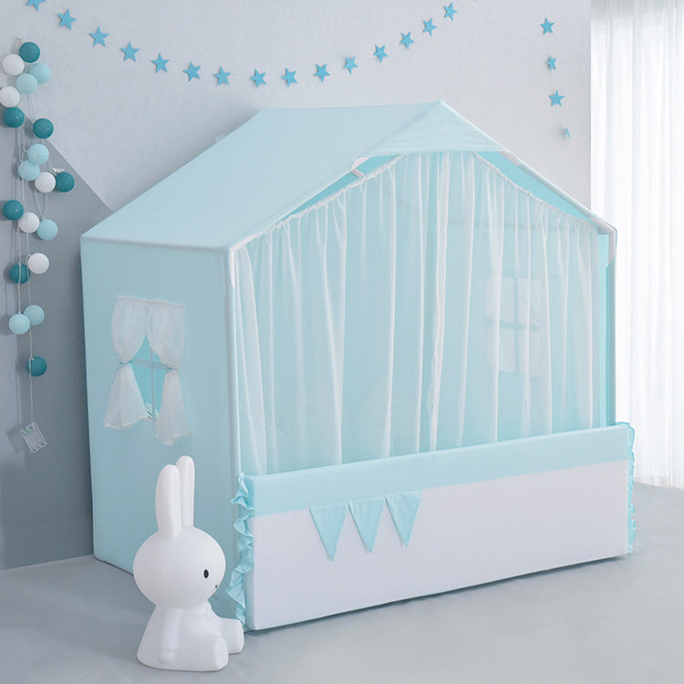 Playhouse with Curtain Blue - iKids