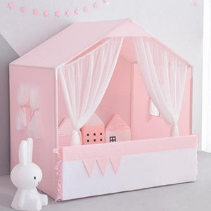 Playhouse with Curtain Pink - iKids