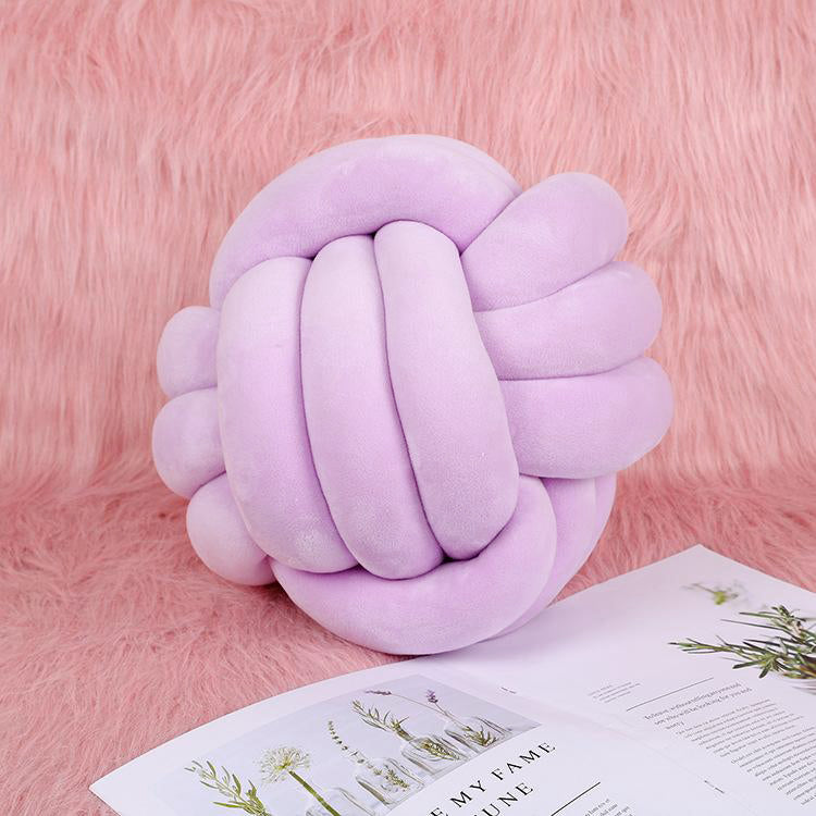 Knot Ball Cushion Purple - iKids