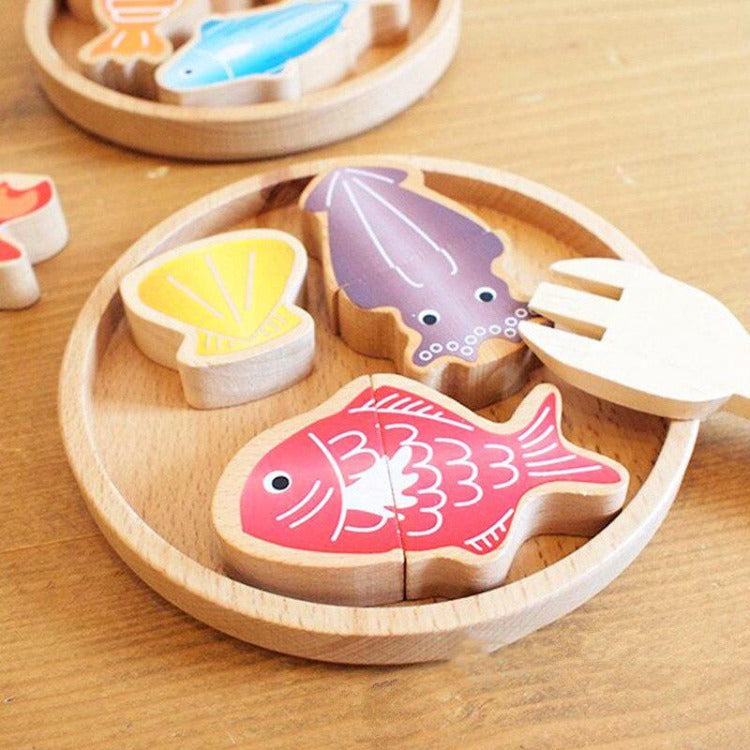 Fishing & Cooking Wooden Toy Set - iKids