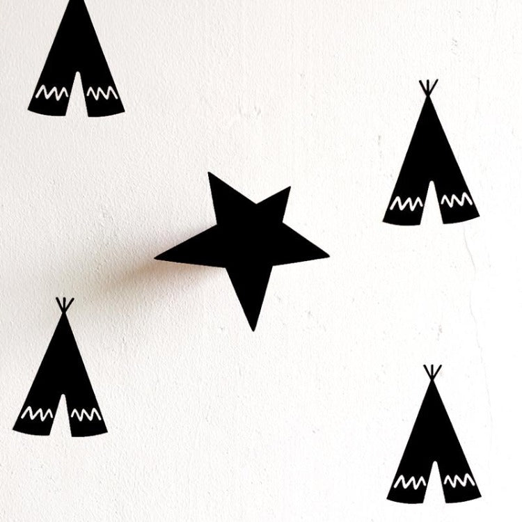 Star Wall Hook Black - iKids