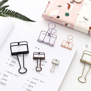 Office Hollow Binder Clip Rose Gold - iKids