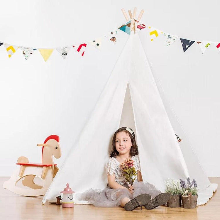 Teepee Tent Natural White - iKids