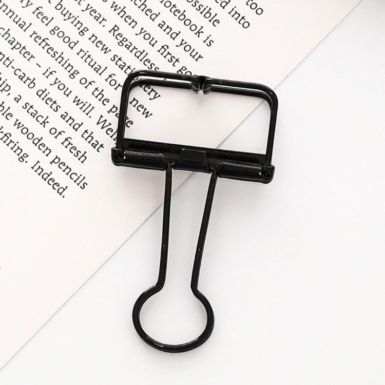 Office Hollow Binder Clip Black - iKids