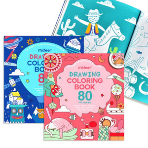 Mideer Drawing Coloring Book - Pink Bubble Party - iKids
