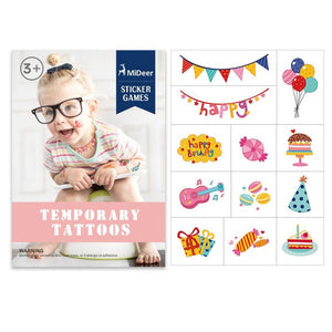Mideer Birthday Watermark Temporary Tattoo Stickers - iKids