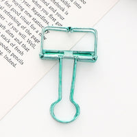 Hollow Binder Clip Green
