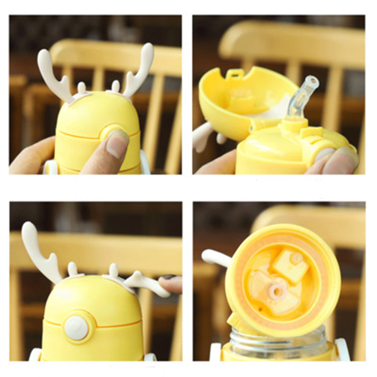 Deer Straw Bottle Grey - iKids
