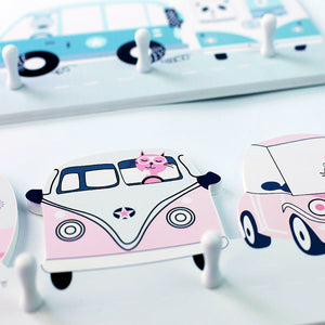 Animal Bus Wall Hook Pink - iKids