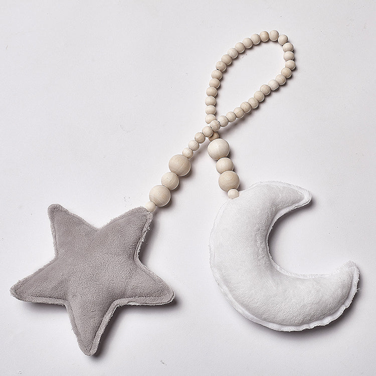 White Moon & Grey Star Beaded Decor - iKids